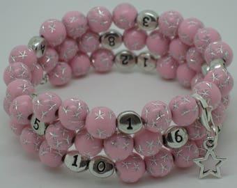 Nursing treasure pink star bracelet