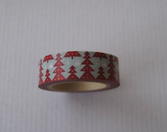 10 M X 1.5 CM WASHI MASKING TAPE RIBBON TREE