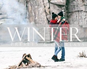 Winter Preset Snow Overlay, Bundle, Photoshop Overlay, Lightroom Preset, LR, Photographer Editing, Snowy,