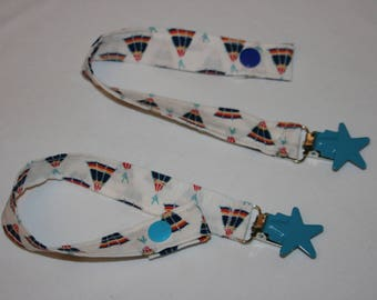 Indian teepee fabric pacifier clip