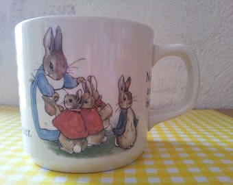 Cup of Peter Rabbit/Cup/Peter Rabbit-rabbit-Cup porcelain/vintage/mug with Wedgwood-rabbit-Beatrix potter/Frederick warne and co/mug /