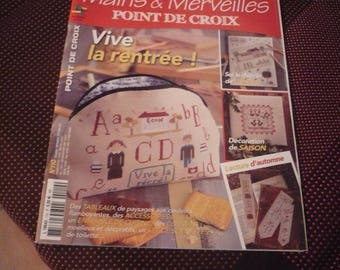 magazine 'hands and wonders' school bright n.110 cross stitch