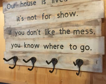 Large wood sign/ Inspirational home decor/ Rustic home decor
