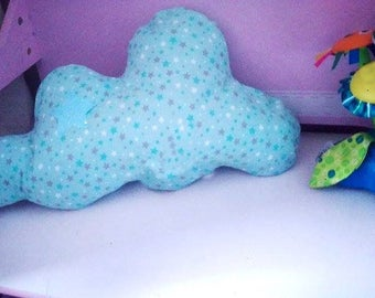 Bright Mint green cushion-star, pilot baby clouds has leds
