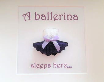 A ballerina sleeps here, dancer, ballerina. ballet, girl, daughter, gift,