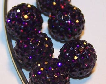 light purple 10mm X 3 making beads