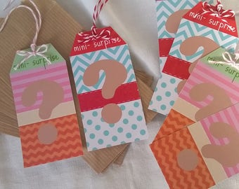 Kit 6 surprise pockets: 6 bags and 6 labels
