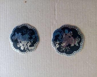 Mirrored flowers pendant