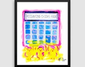 Accounting Chicks Rock Art Poster, Accounting Humor, Bookkeeper Gift, Finance Art, Accountant Gift, Accountant Wall Art, Accountant Art