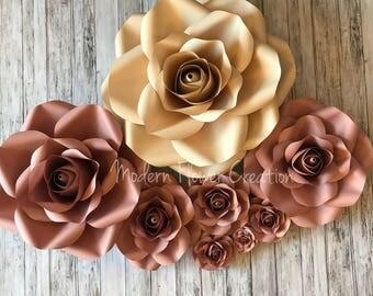 Paper Rose Template Bundle
