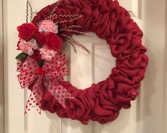 Valentine's Day Bouquet Wreath Pink
