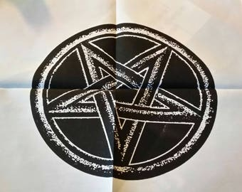 Carpet of ritual or tablecloth of altar pentacle