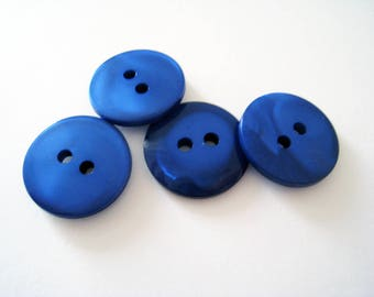 Batch 6 fabric buttons 18mm Pearly blue