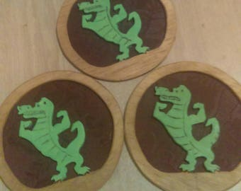 """6"""" Gator silhouette with backer"""