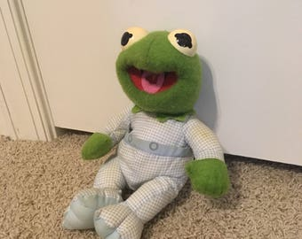 Vintage Baby Kermit Doll from 1984