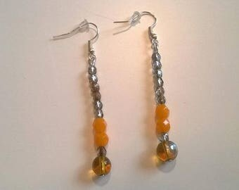 Long earrings swarovski crystal and glass