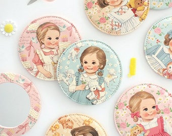 Paper doll mate pocket mirror - Paper doll mate hand mirror