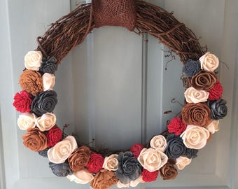 "16"" Sola Wood Hand Dyed Wreath"