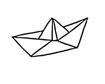 Boat origami in flex fusible