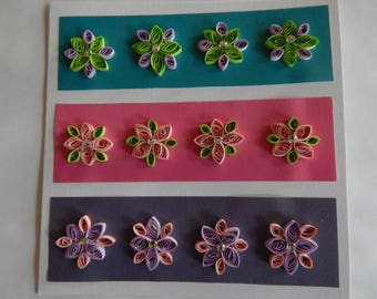 Handmade quilled card with floral design