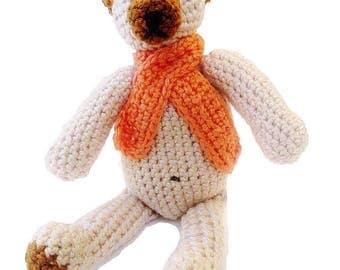 Teddy bear, Teddy, rattle, crochet, birth gift
