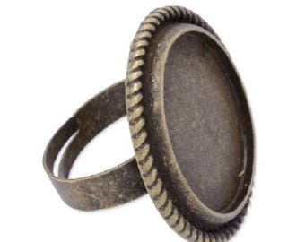 ring bronze cabochon 20mm