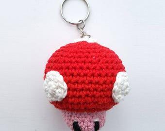 Crocheted keychain