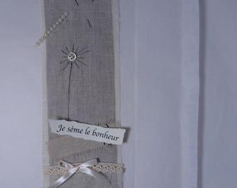 embroidered linen table dandelion Kit