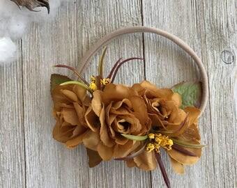 Golden Fall Flower Crown