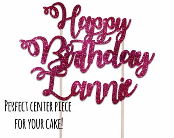 Happy Birthday Cake Topper/Birthday Cake Topper/Happy Birthday Cupcake Topper/Cake Topper/Happy Birthday Stickers/Happy Birthday Labels