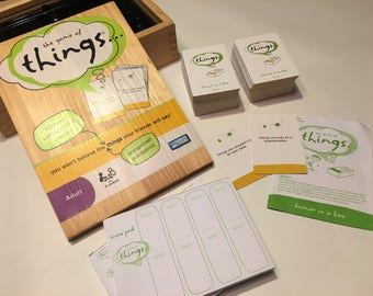 """Wooden Box """"The Game of Things..."""" 2008 Board Game - Hilarious What Would You Say? Game"""