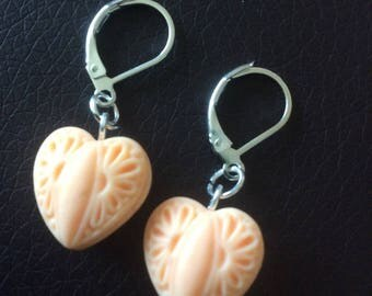 Earrings heart lace for various occasions!