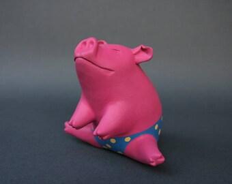 Piggy Bank Artwork: Sitting Pink