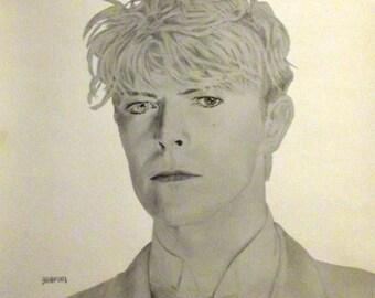 David Bowie Art Print 2 -- Bradford Salamon