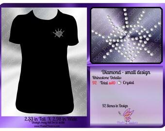 Diamond Rhinestone Design - Small Diamond- Bling Rhinestone Design - ss10 Rhinestone File - Rhinestone Pattern - Rhinestone SVG