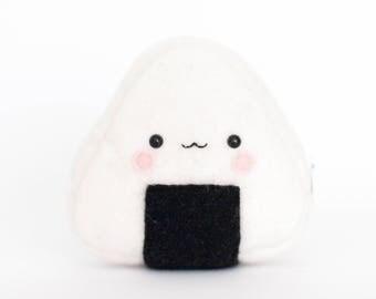 Onigiri Sushi Kawaii Sewn Felt Coin Purse / Pouch / Bag
