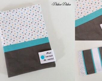 "Health Book personalized mini triangles with inscription ""my health book"""