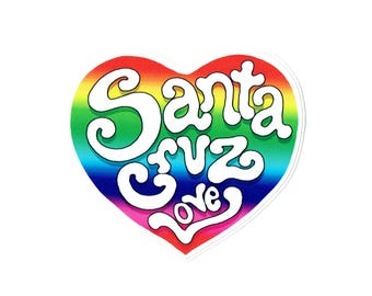 SC rainbow heart sticker