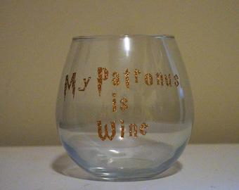 Harry Potter Inspired Wine Glass