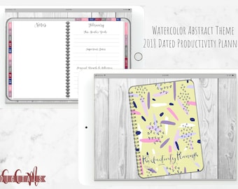 DATED Watercolor Faith Productivity Digital Planner | Digital Journal iPad Goodnotes |Functioning Tabs | Social Media Tools | Bible Study