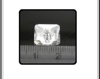 Square button facets, size 12 mm, 2 holes