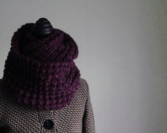 Thick wool scarf made of knitted