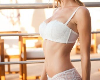 White  lace Lingerie, Bridal Lingerie, Black  lingerie , White lace lingerie, Sexy Gift, Wife Gift, Honeymoon lingerie