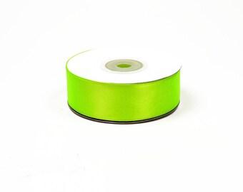 25mm - ref 544 NEON green satin ribbon 25 m reel