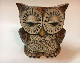 Vintage Owl Planter Pot Vase, Sittre Ceramics 1970s