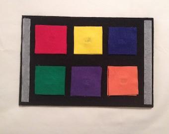 Felt Velcro Puzzle of Square Colors