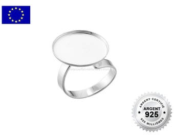 925 Silver - 18mm - 1 or 10 Silver Cabochon Ring