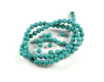 Turquoise Sinkiang Beads - 6/8/10mm - 10 or 100 Beads