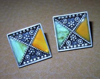 925 silver enamel earrings