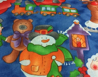 Santa Snowmen Christmas holiday fabric!!